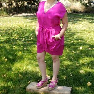 EUC Rachel Roy Fuschia Tulip Tie Dress 8